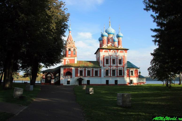 Достопримечательности Углича: церковь Царевича Димитрия на крови