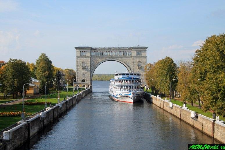 Достопримечательности Углича: судоходный шлюз Угличской ГЭС
