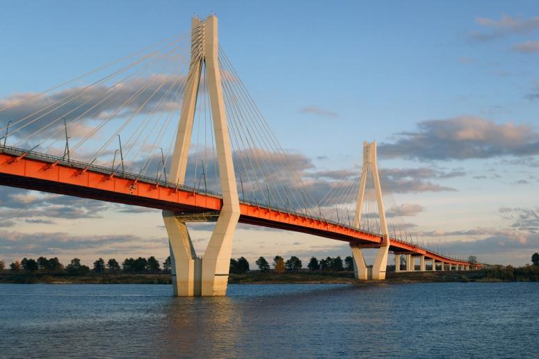 Достопримечательности Золотого Кольца России - Муромский вантовый мост