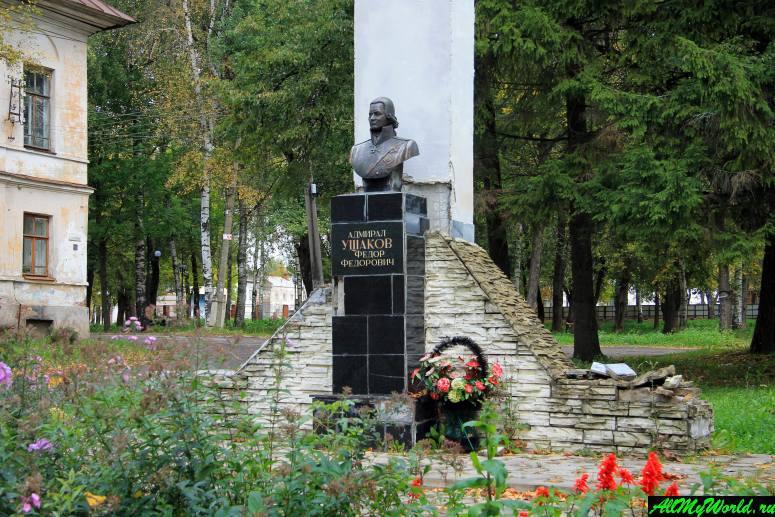 Достопримечательности Тутаева: памятник Ушакову