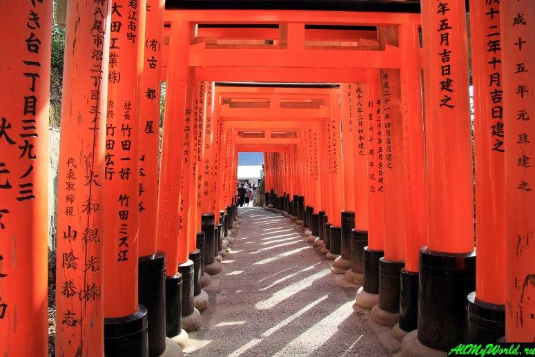 Достопримечательности Киото - Святилище Фусими Инари (Фусими-Инари-тайся)