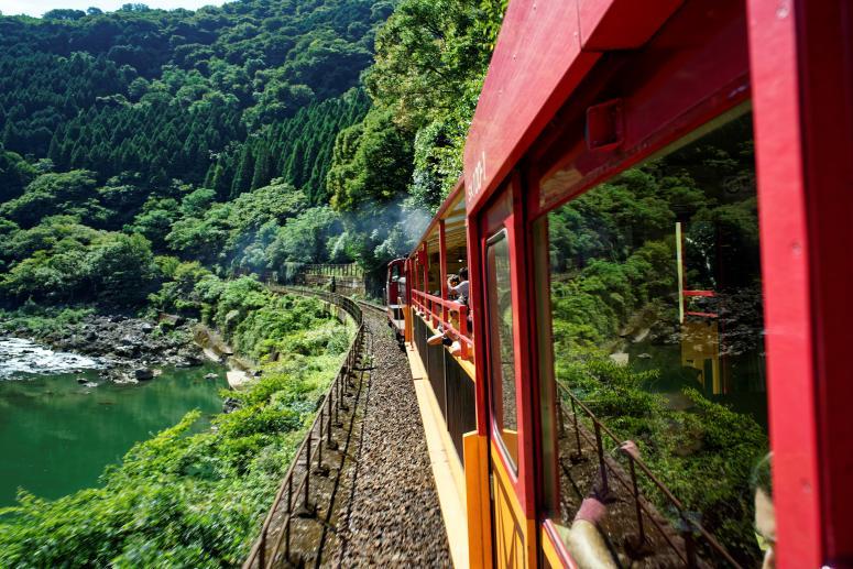 Достопримечательности Киото - Туристическая железная дорога Сагано
