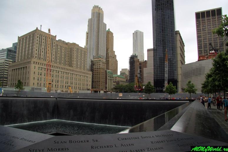 """Достопримечательности Нью-Йорка - """"Граунд-зеро"""" - место Всемирного торгового центра"""
