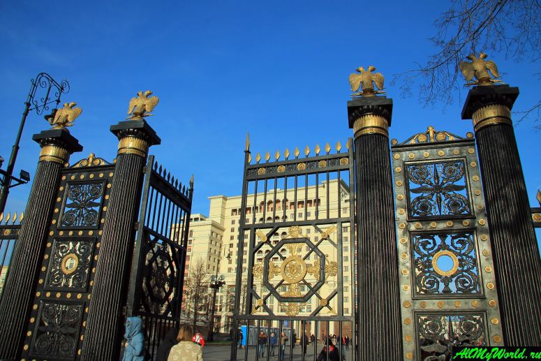 Достопримечательности Москвы: Александровский сад