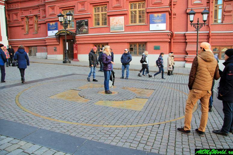Достопримечательности Москвы: Нулевой километр