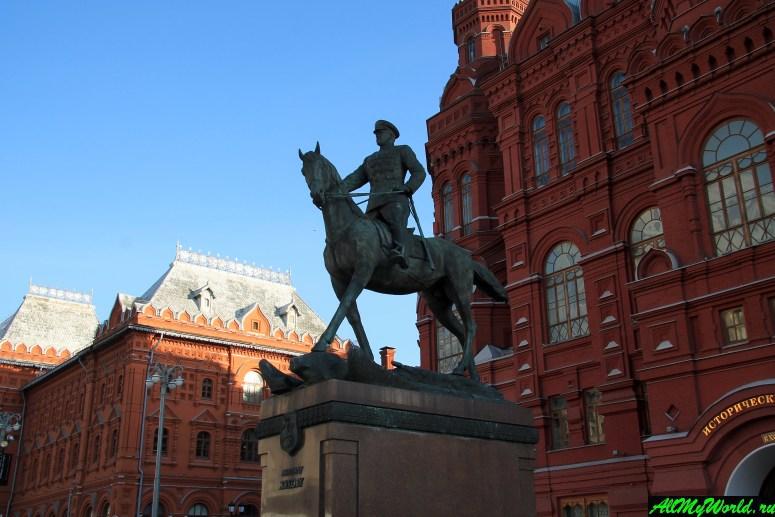 Достопримечательности Москвы: Памятник маршалу Жукову