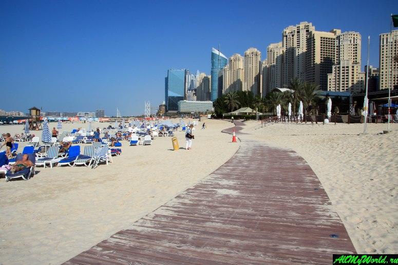 Лучшие бесплатные пляжи Дубая - Пляж Дубай Марина (Dubai Marina Beach)