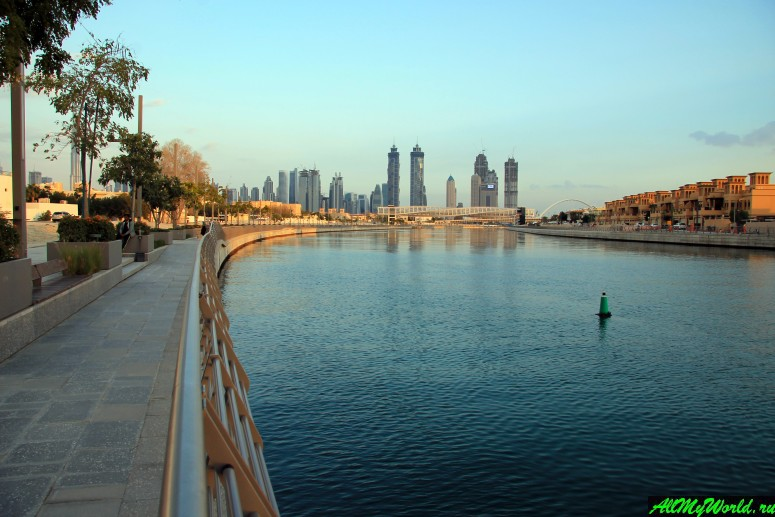 Достопримечательности Дубая - Променад и мосты Dubai Water Canal