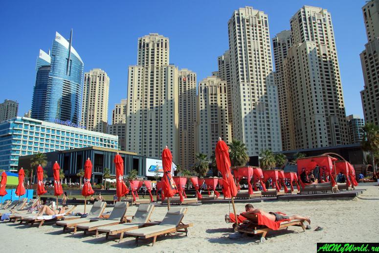 Достопримечательности Дубая - Пляж Марина-бич