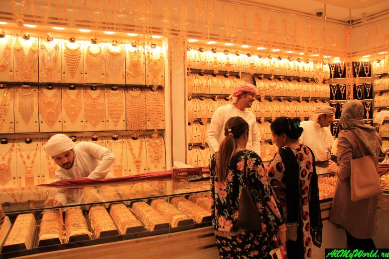 Дубай достопримечательности: Золотой рынок