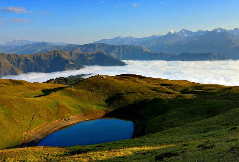 Грузия, Тушетия - озеро Орети