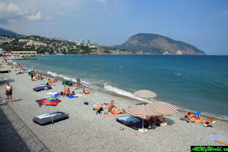 Крым, центральный пляж Гурзуфа
