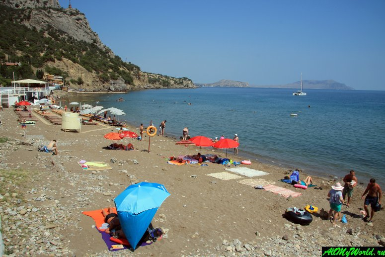 Крым, пляж Нового Света