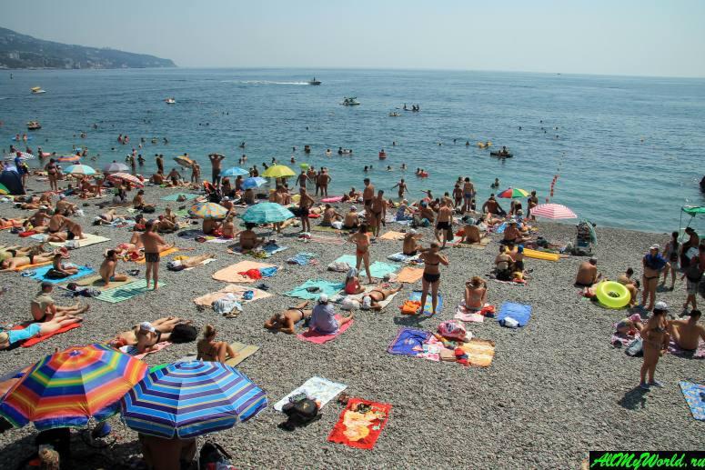 Крым, Приморский пляж Ялты