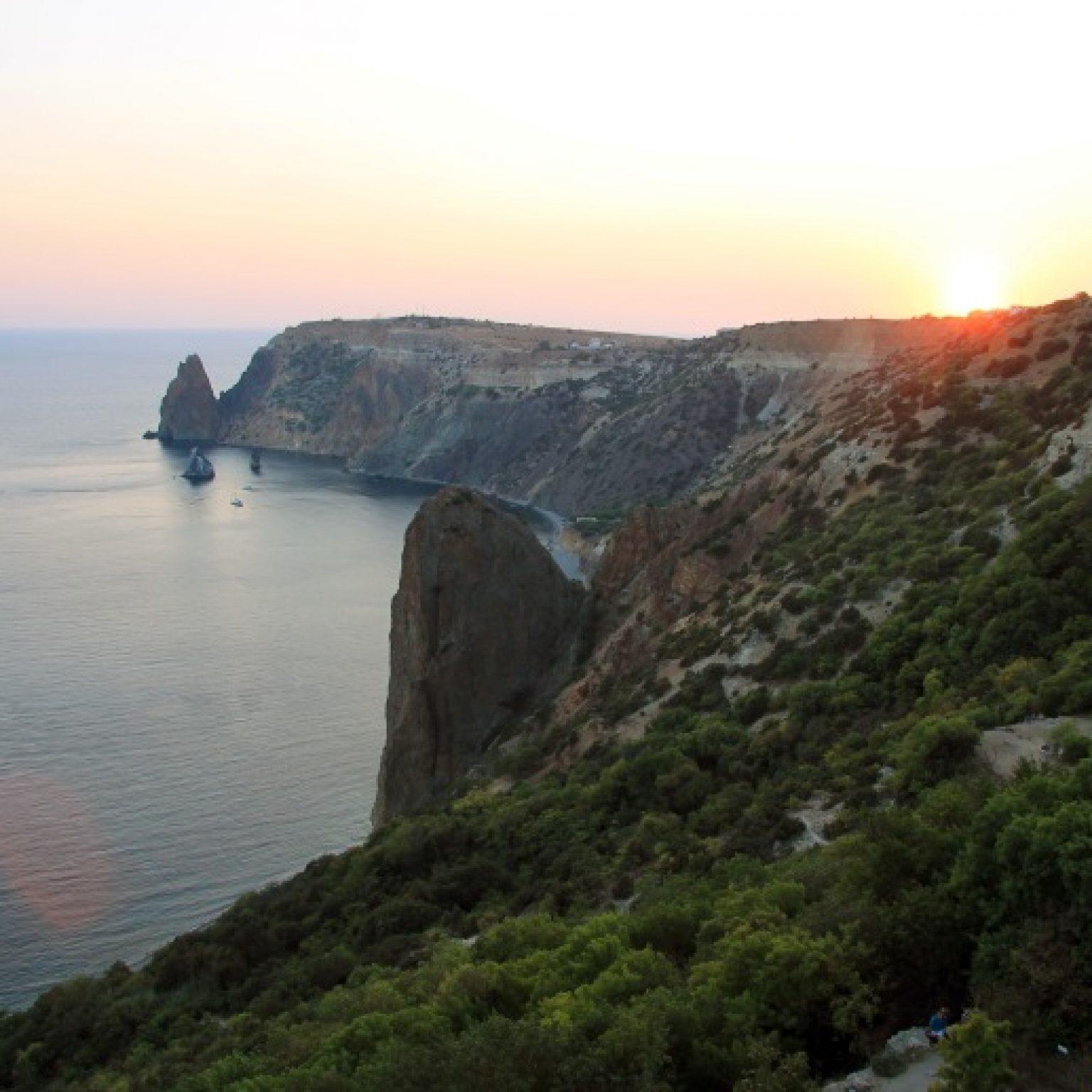 Крым, Яшмовый пляж на мысе Фиолент