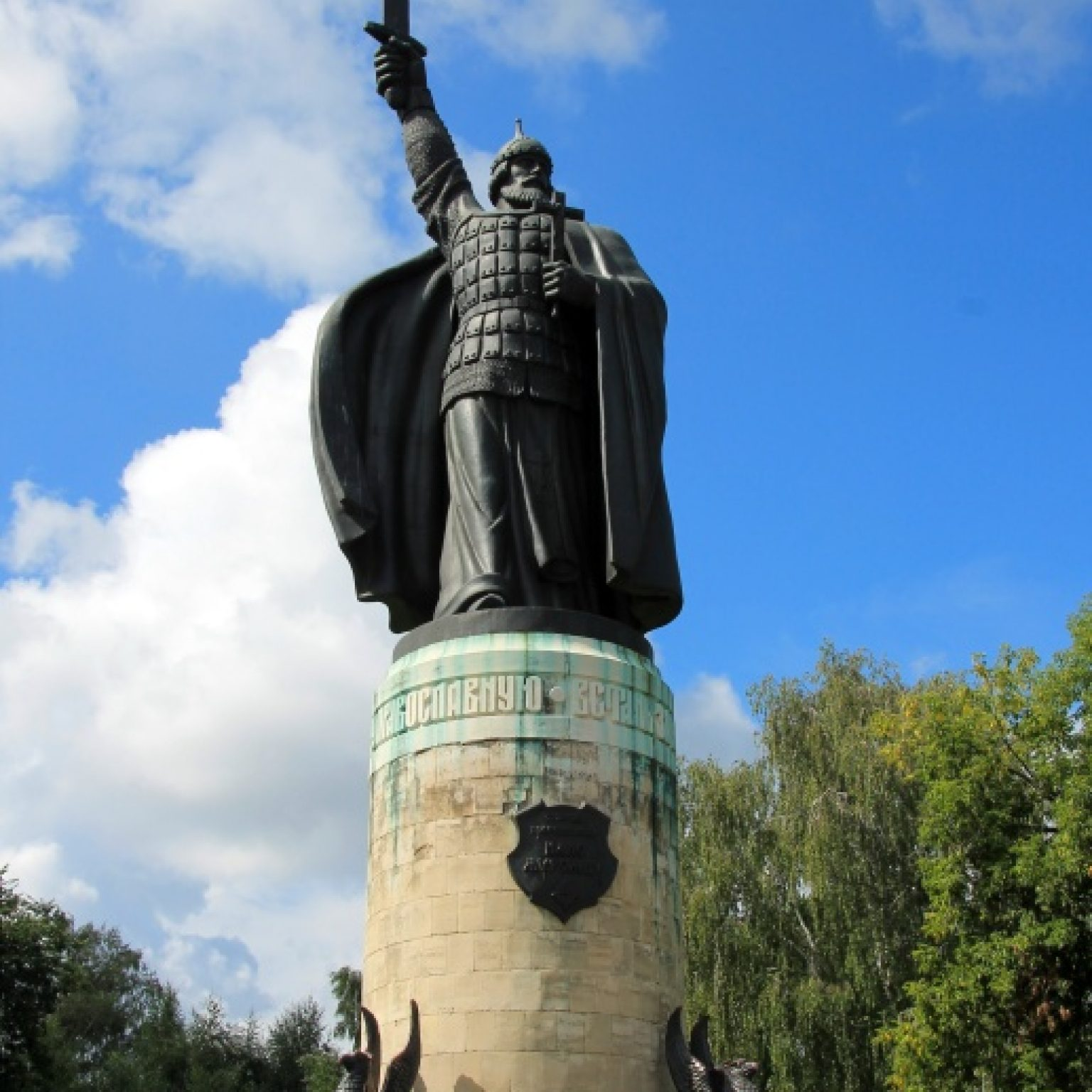 Достопримечательности Мурома: памятник Илье Муромцу