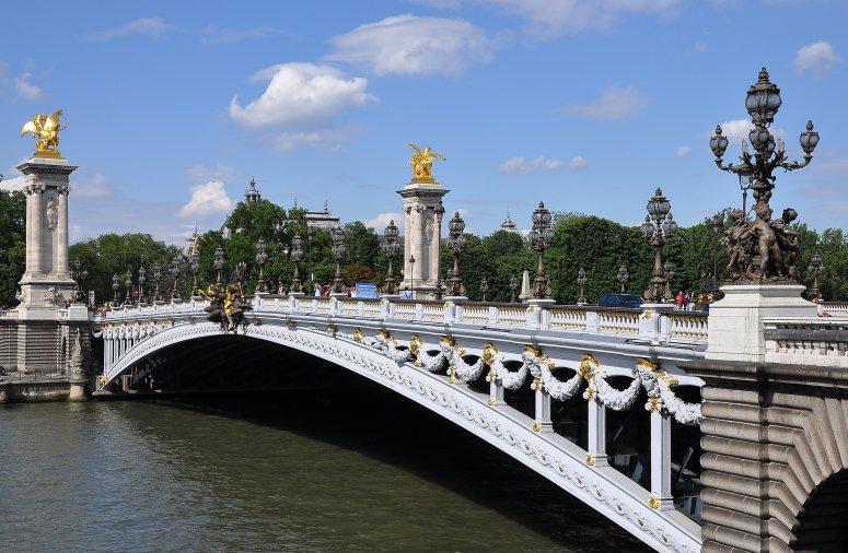 Достопримечательности Парижа: Мост Александра III