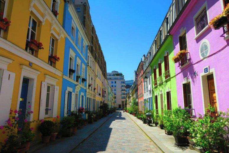 Достопримечательности Парижа: Цветные дома улицы Кремьё
