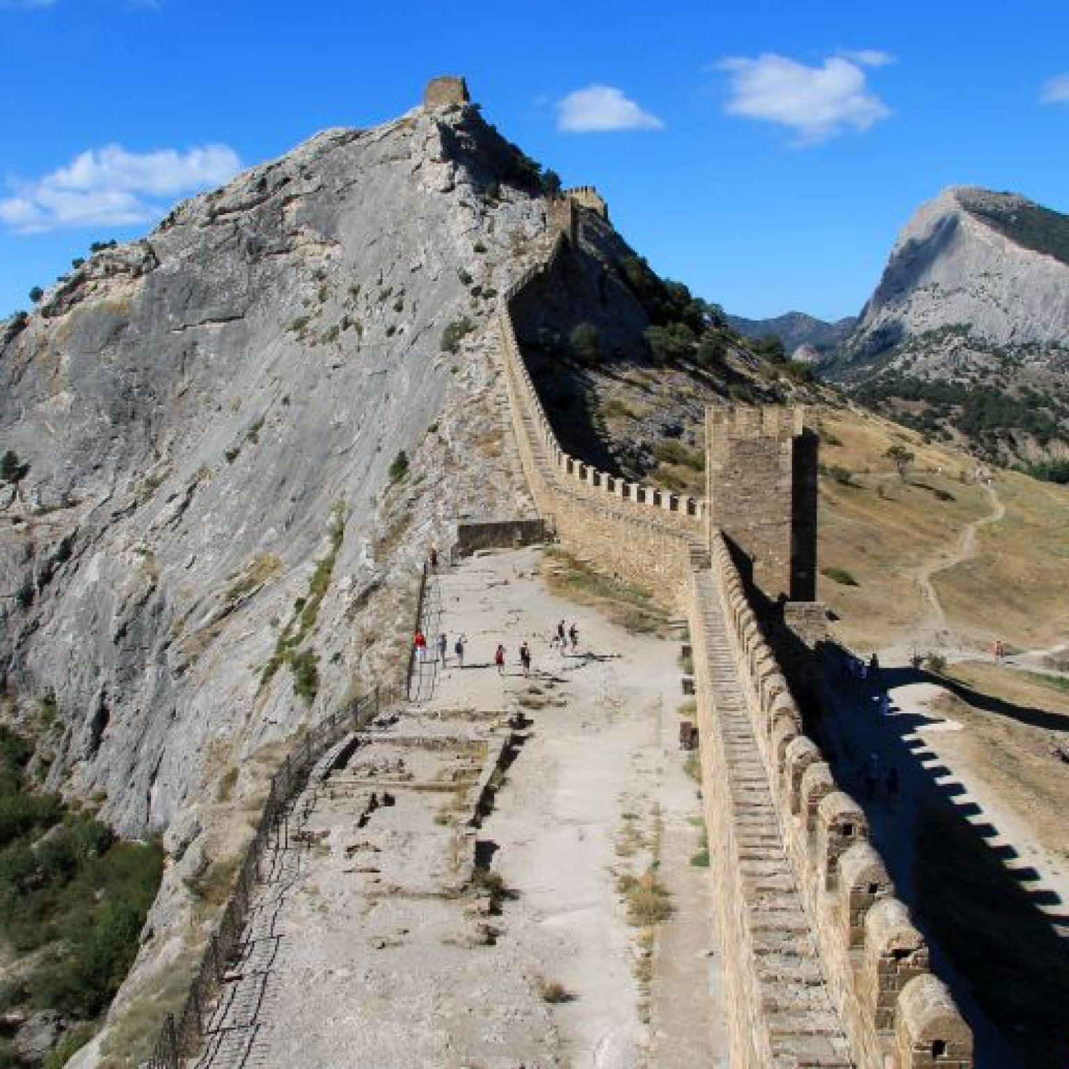 Достопримечательности Крыма - Генуэзская крепость в Судаке