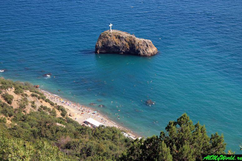 Достопримечательности Крыма - Яшмовый пляж на мысе Фиолент