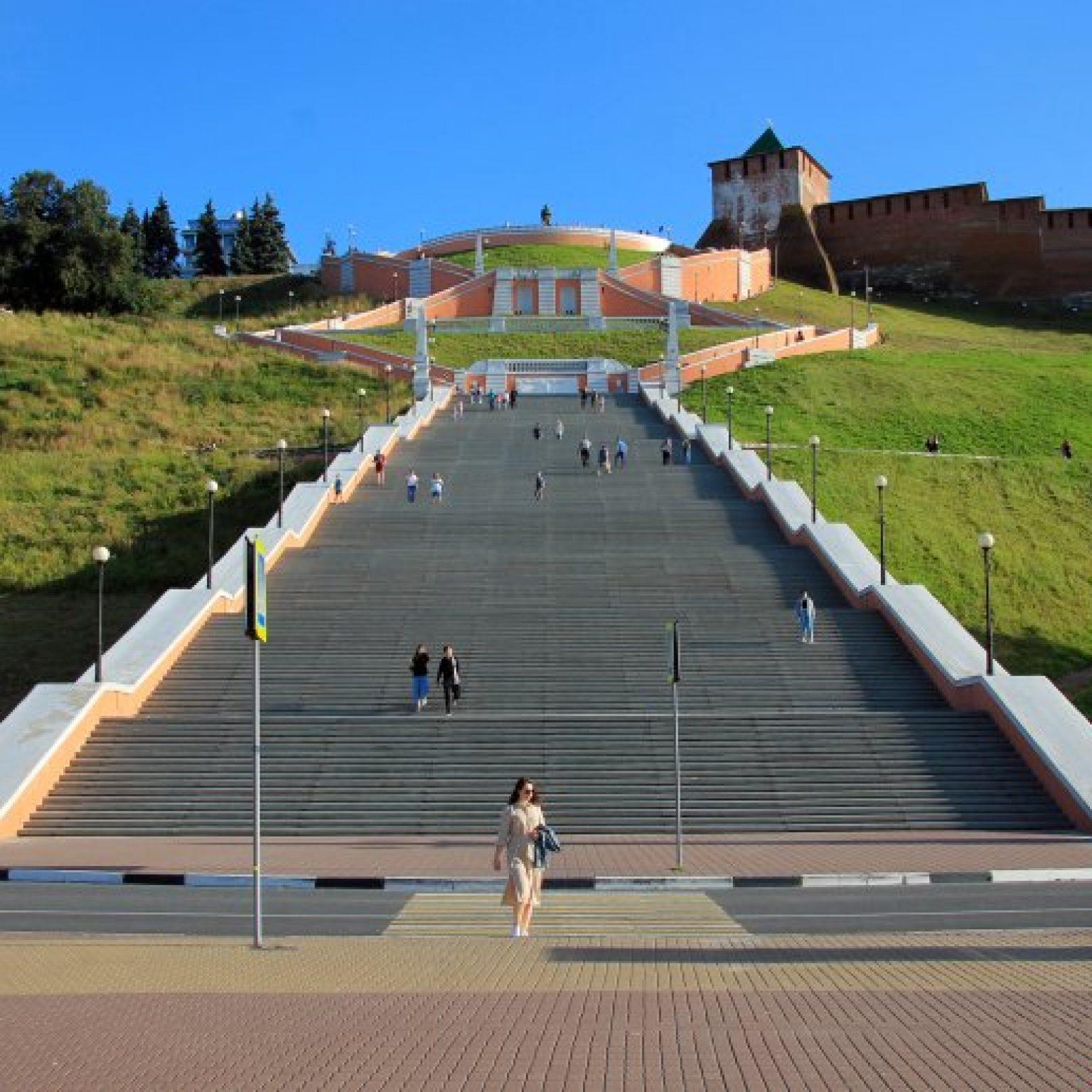 Достопримечательности Нижнего Новгорода: Чкаловская лестница