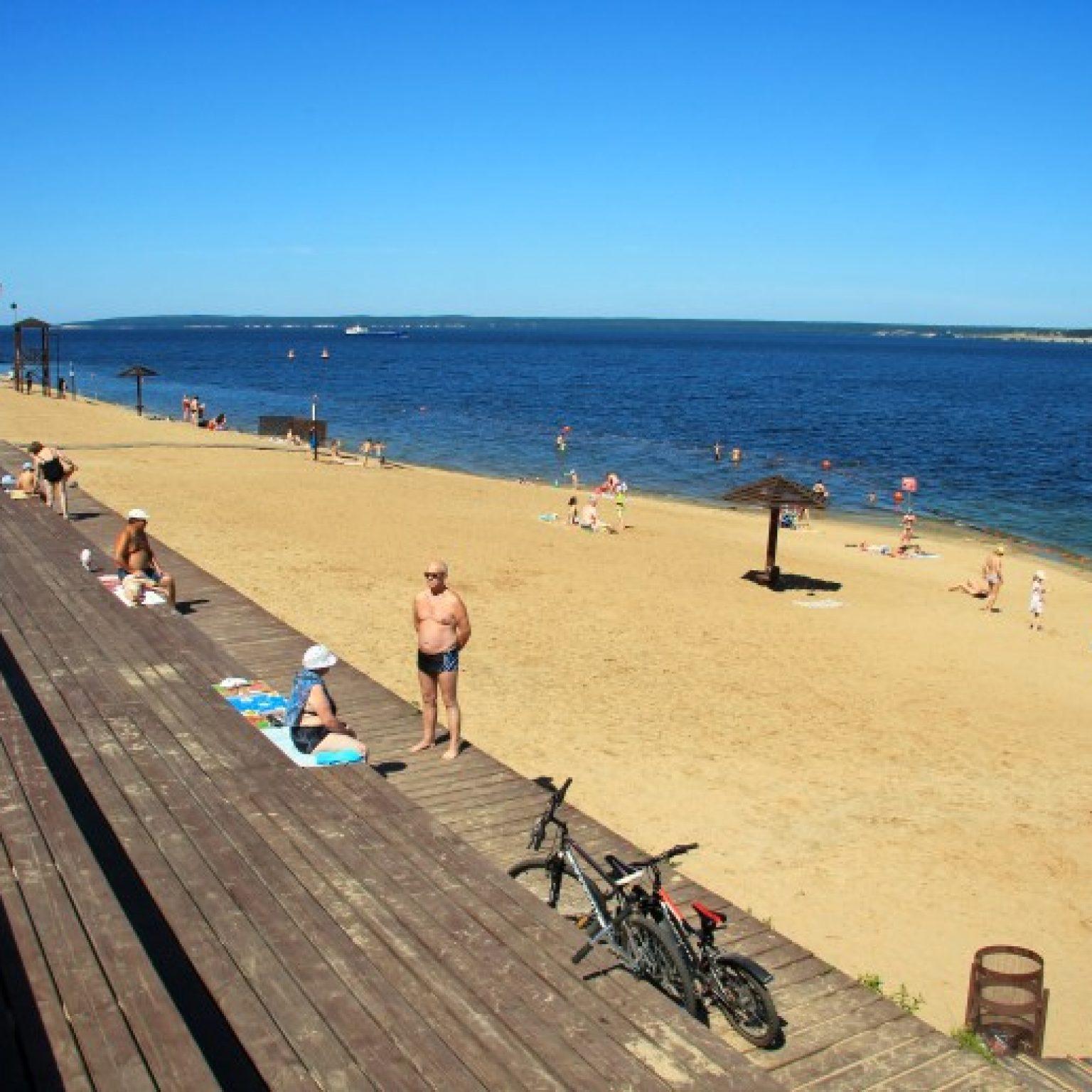 Достопримечательности Чебоксар: Центральный пляж