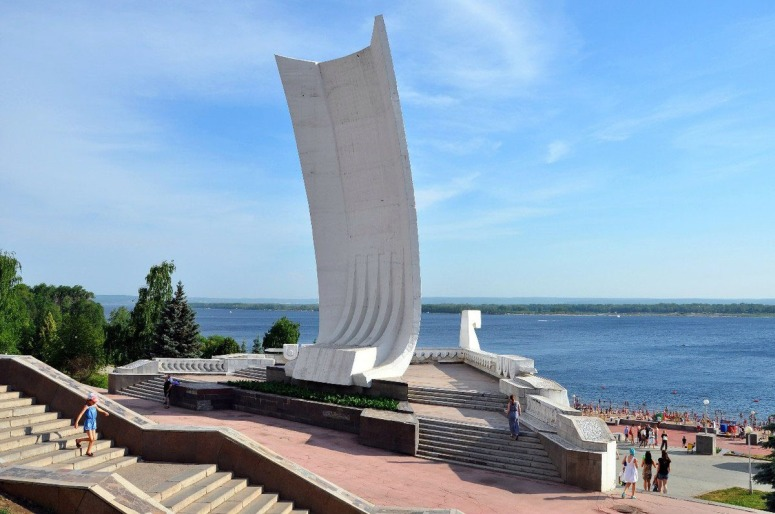 """Достопримечательности Самары: Монумент """"Самарская ладья"""""""