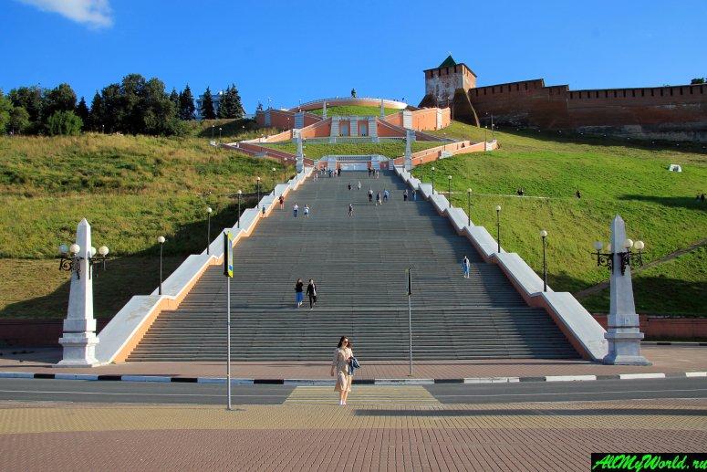 Достопримечательности Поволжья: Чкаловская лестница в Нижнем Новгороде