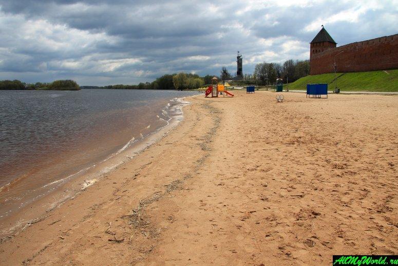 Достопримечательности Великого Новгорода: Городской (Кремлевский) пляж