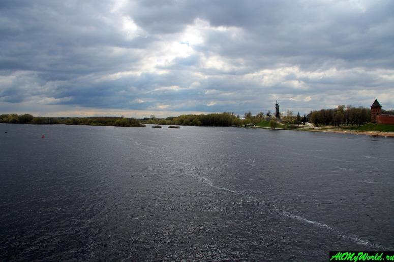 Достопримечательности Великого Новгорода: Река Волхов и Озеро Ильмень