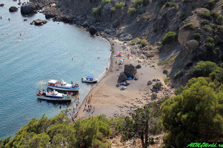 Лучшие пляжи Крыма: Царский пляж (Новый Свет)