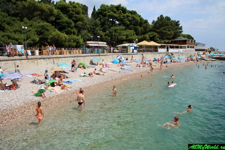Лучшие пляжи Крыма: Центральный (Пансионатский) пляж Фороса