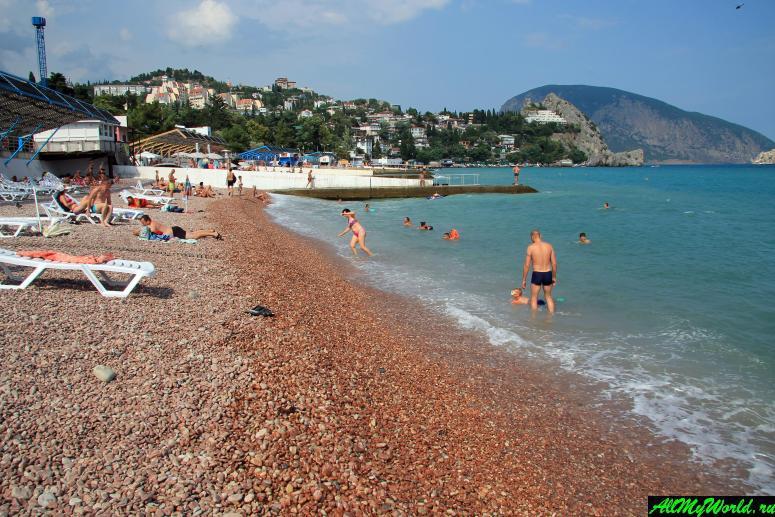Лучшие пляжи Крыма: Центральный пляж Гурзуфа