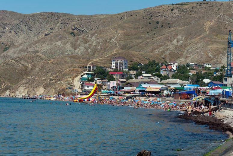 Лучшие пляжи Крыма: Центральный пляж Орджоникидзе