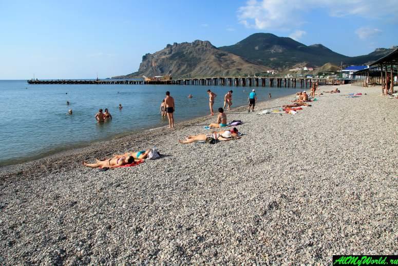 Лучшие пляжи Крыма: пляж поселка Коктебель