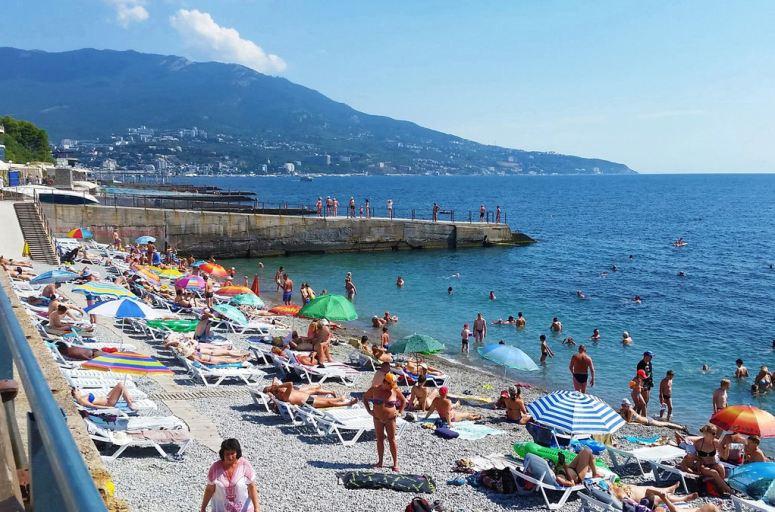 Лучшие пляжи Крыма: Ливадийский пляж в Ялте
