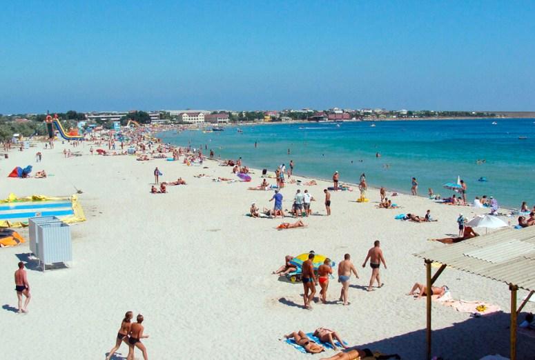 Лучшие пляжи Крыма: Пляж в Межводном