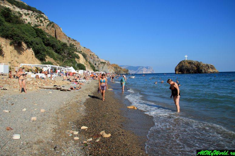 Лучшие пляжи Крыма: Яшмовый пляж на мысе Фиолент