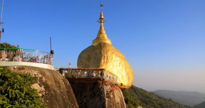 Достопримечательности Мьянмы: пагода Золотой камень (Golden Rock) — много фото