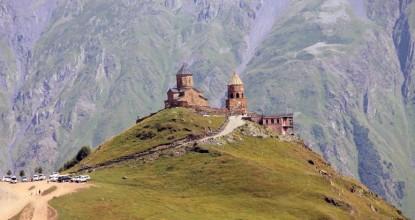 Грузия: Троицкая церковь Гергети