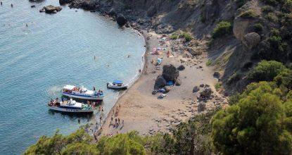 Крым, Царский пляж в Новом Свете
