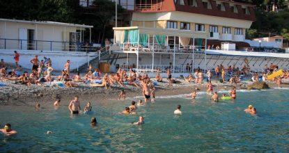 Крым, центральный пляж Мисхора