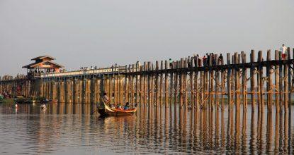 Амарапура, мост У-Бейн: самый длинный деревянный мост в мире