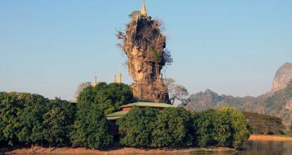 Восточная Мьянма: Моламьян, пещера Садан, гора Звегабин и пагода Кьяук-Калап (39 фото)