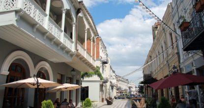Тбилиси, левый берег: район Чугурети и проспект Агмашенебели (Давида Строителя)
