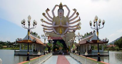 Ват Плай Лаем на Самуи: «многорукий Будда», Хотэй и огромные рыбы